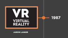 The name virtual reality was made up in 1987